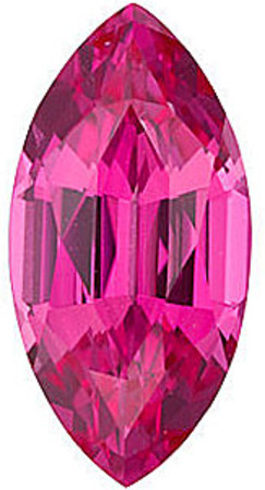 Chatham Lab Pink Sapphire Marquise Cut in Grade GEM