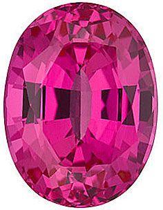 Chatham Lab Pink Sapphire Oval Cut in Grade GEM