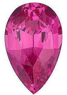 Chatham Lab Pink Sapphire Pear Cut in Grade GEM