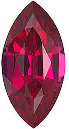 Chatham Lab Ruby Marquise Cut in Grade GEM