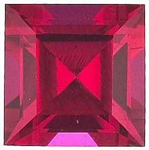 Chatham Lab Ruby Square Step Cut in Grade GEM