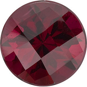 Checkerboard Round Genuine Rhodolite Garnet in Grade AAA