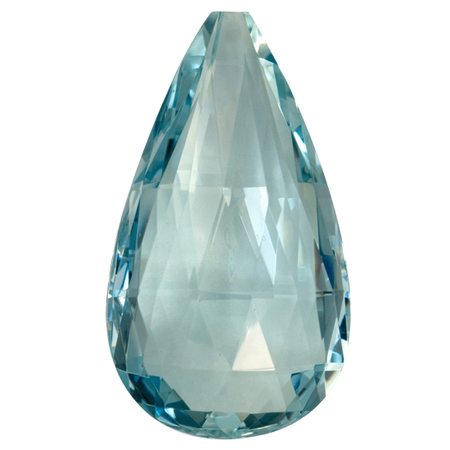 Deal on Aquamarine Gemstone in Briolette Cut, 25.81 carats, 31 x 17.60 mm , Rare No Heat Aqua