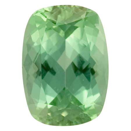 Deal on Blue Green Tourmaline Gemstone in Antique Cushion Cut, 3.59 carats, 11.04 x 8.08 mm Displays Vivid Blue-Green Color