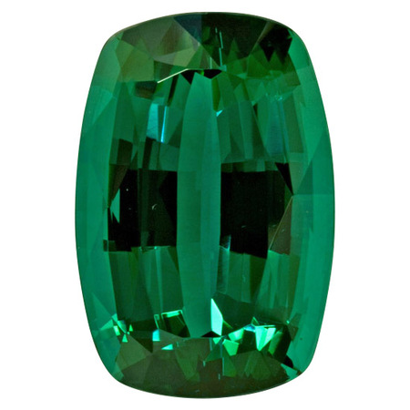 Special Blue Green Tourmaline Gemstone in Antique Cushion Cut, 31.16 carats, 22.30 x 15.50 mm Displays Vivid Blue-Green Color