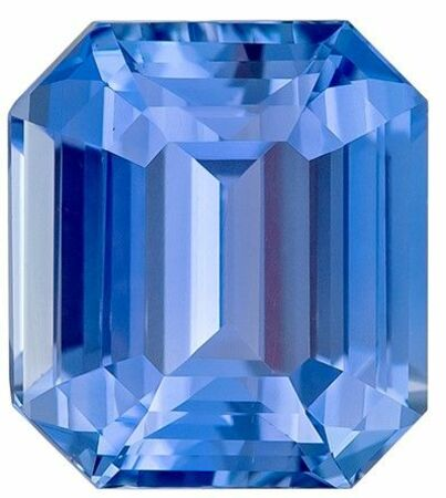 Deal on Blue Sapphire Emerald Shaped Gem, No Heat with GIA Cert, 2.03 carats, 7.26 x 6.55 x 4.29 mm - Low Price