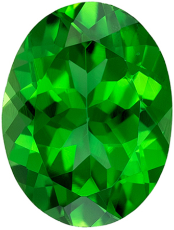 Deal on Genuine Chrome Tourmaline Gem in Oval Cut, 7.9 x 6 mm in Gorgeous Rich Grass Green, 1.24 carats