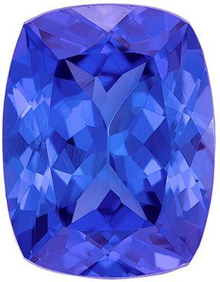 Deal on Genuine Tanzanite Gem in Cushion Cut, 9 x 7 mm in Gorgeous Rich Blue Purple, 2.5 carats