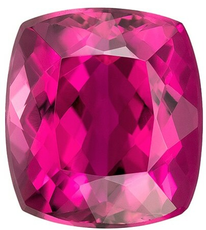 Low Price  Rubellite Tourmaline Genuine Gemstone, 4.26 carats, Cushion Shape, 10 x 9 mm