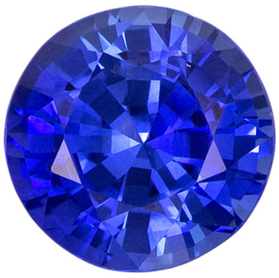 Engagement Stone Blue Sapphire Round Cut, 1.71 carats, 7 mm