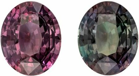 Excellent Alexandrite Genuine Loose Gemstone in Oval Cut, 2.06 carats, Magenta to Steely Green, 8.4 x 6.79 mm - GIA Certificate