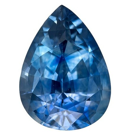 Faceted Blue Green Sapphire Gemstone, Pear Cut, 0.84 carats, 6.9 x 5 mm , AfricaGems Certified - A Great Colored Gem