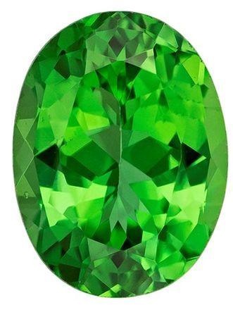 Faceted Chrome Tourmaline Gemstone, Oval Cut, 1.36 carats, 8.1 x 6.1 mm , AfricaGems Certified - A Impressive Gem