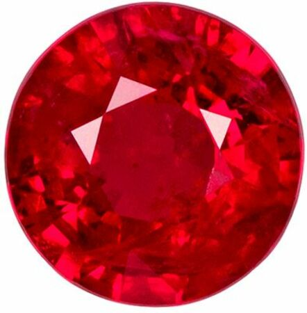 Rich Look GIA Certified Genuine Loose Ruby Gemstone in Round Cut, 6.74 x 6.87 x 4.05 mm, Open Pure Red, 1.52 carats