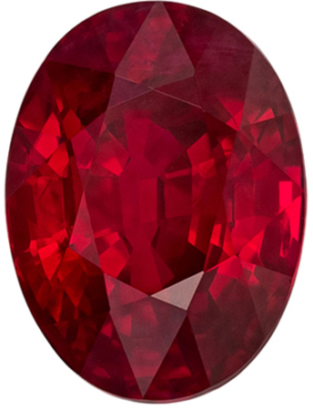 Fine GRS Certified Genuine Ruby Gem in Oval Cut, 9.27 x 6.96  mm in Gorgeous Pure Pigeons Blood Red, 3.05 carats