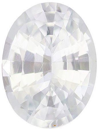 Genuine White Sapphire Oval Cut in Grade AAA