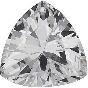 Genuine White Sapphire  Trillion Cut in Grade AAA