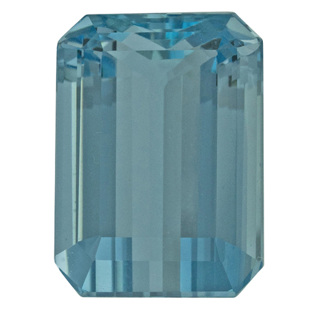 Genuine Aquamarine Gemstone in Octagon Cut, 15.1 carats, 16.74 x 12.74 mm , Rare No Heat Aqua