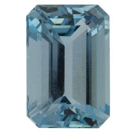 Finest Color Aquamarine Gemstone in Octagon Cut, 3.6 carats, 11.36 x 7.81 mm , Rare No Heat Aqua