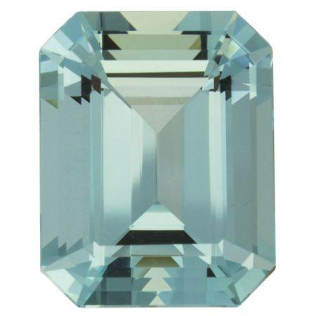 Genuine Aquamarine Gemstone in Octagon Cut, 32.6 carats, 23 x 18 mm , Rare No Heat Aqua