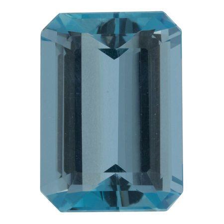 Finest Color Aquamarine Gemstone in Octagon Cut, 5.34 carats, 13.36 x 9.57 mm , Rare No Heat Aqua