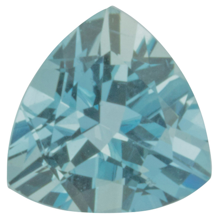 Genuine Aquamarine Gemstone in Trillion Cut, 3.44 carats, 10.18 mm