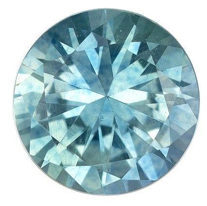 Genuine Blue Green Sapphire Gemstone, Round Cut, 0.4 carats, 4.4 mm , AfricaGems Certified - A Wonderful Find!