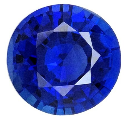 Genuine Blue Sapphire Gemstone, 0.43 carats, Round Shape, 4.5 mm, Amazing Gemstone - Low Price