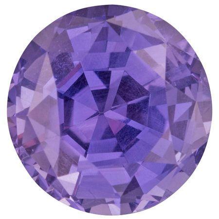 Rare Color Change Sapphire Gemstone in Round Cut, 4.71 carats, 9.76 mm Displays Rich Blue - Purple Color - AGL Cert No Heat