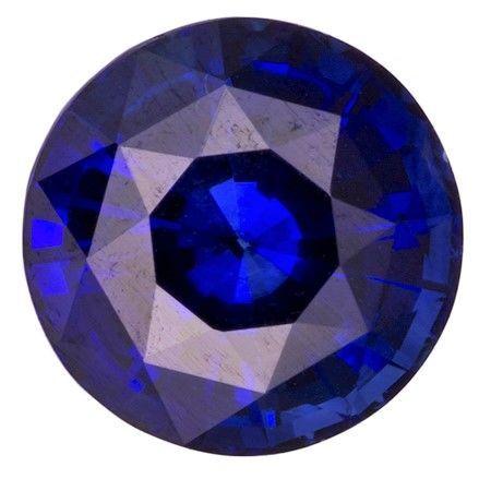 Genuine Blue Sapphire Gemstone, Round Cut, 1.22 carats, 6.3 mm , AfricaGems Certified - A Hard to Find Gem