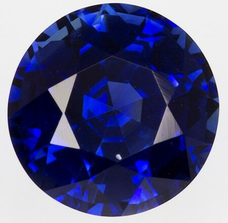 Genuine Blue Sapphire Gemstone, Round Cut, 1.49 carats, 6.7 x 6.64 x 4.39 mm , GRS Certified - A Hard to Find Gem