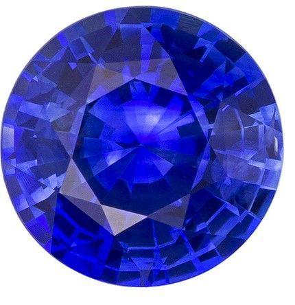 Genuine Blue Sapphire Gemstone, Round Cut, 1.9 carats, 7.5 mm , AfricaGems Certified - A Hard to Find Gem