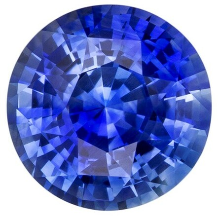 Genuine Blue Sapphire Gemstone, Round Cut, 2.11 carats, 7.6 mm , AfricaGems Certified - A Great Buy