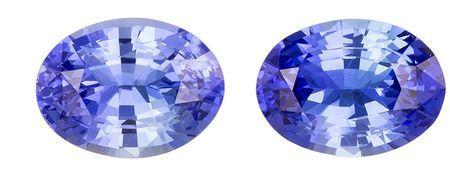 Genuine Blue Sapphire Gemstones, Oval Cut, 2.9 carats, 8 x 6 mm Matching Pair, AfricaGems Certified - A Deal