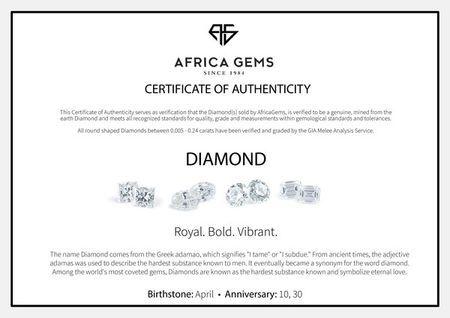Genuine Diamonds in Round Cut GH Color - VS Clarity