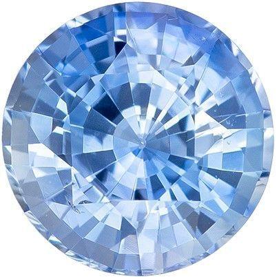 Genuine Gem Blue Sapphire Round Shaped Gemstone, 1.16 carats, 6mm - Great Colored Gem