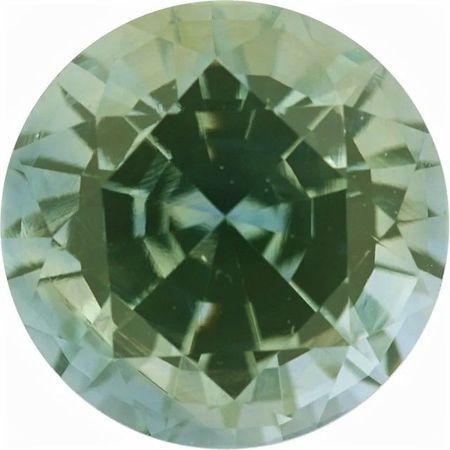 Genuine Green Sapphire Round Diamond Cut in Grade AAA