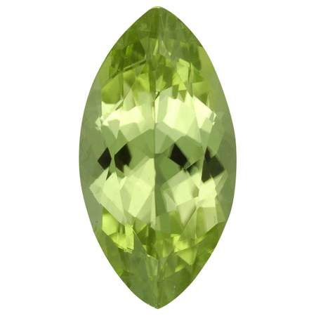 Genuine Peridot Gemstone in Marquise Cut, 6.94 carats, 18.32 x 9.76 mm Displays Rich Green Color