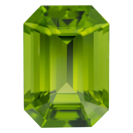 Rare Size Xtra Gem Peridot Gemstone in Octagon Cut, 38.5 carats, 24 x 17 mm Displays Pure Green Color