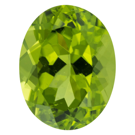 Genuine Peridot Gemstone in Oval Cut, 5.7 carats, 12.80 x 9.84 mm Displays Vivid Green Color