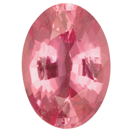 Genuine Pink Sapphire Gemstone in Oval Cut, 1.85 carats, 8.83 x 6.36 x 3.99 mm Displays Pure Pink Color - AGL Cert