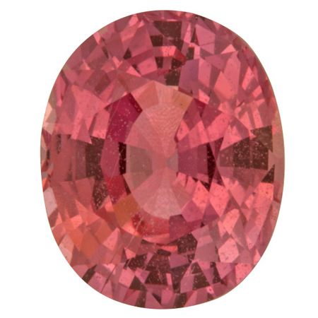 Genuine Pink Sapphire Gemstone in Oval Cut, 2.08 carats, 8.10 x 6.60 x 4.57 mm Displays Vivid Pink Color - AGL Cert