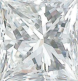 Genuine Princess Cut Diamonds in GH Color - VS Clarity