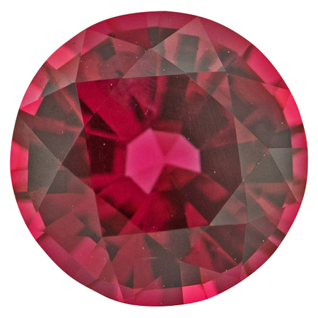 Genuine Pink Red Spinel Gemstone in Round Cut, 3.10 carats, 9.14 x 9.09 mm Displays Intense Pink  Red Color