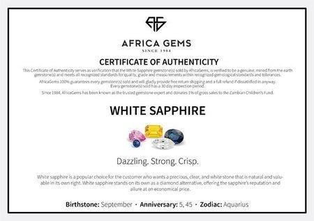 Genuine White Sapphire  Heart Cut in Grade AAA