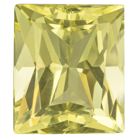 Genuine Yellow Beryl Gemstone in Radiant Cut, 13.38 carats, 15.48 x 13.30 mm Displays Vivid Yellow Color