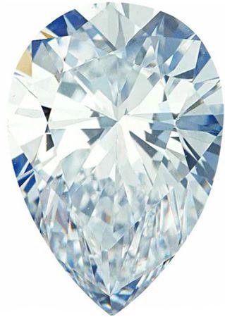 GH Color - SI Clarity Lab Grown Pear Diamonds
