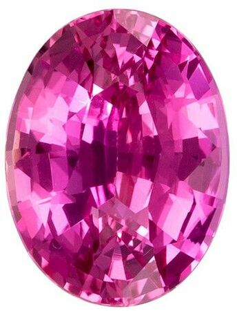 Natural Pink Sapphire Gemstone, Oval Cut, 2.04 carats, 8.58 x 6.51 x 4.44 mm , GIA Certified - A Great Buy