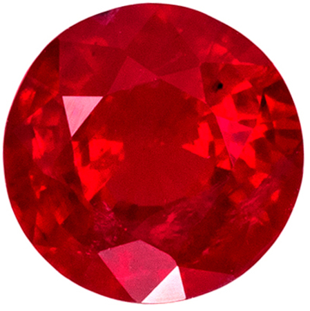 Good Looking Ruby Round Cut Loose Gemstone Medium Rich Red, 5.5 mm, 0.8 carats