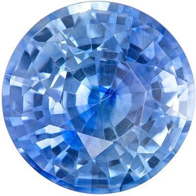 Hard to Find Blue Sapphire Genuine Loose Gemstone in Round Cut, 2.25 carats, Vivid Cornflower Blue, 7.9 mm